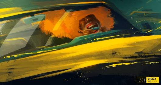 Crazy-Taxi-driver