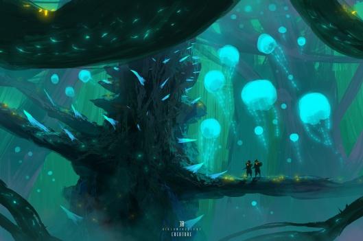 Bioluminescent-creature