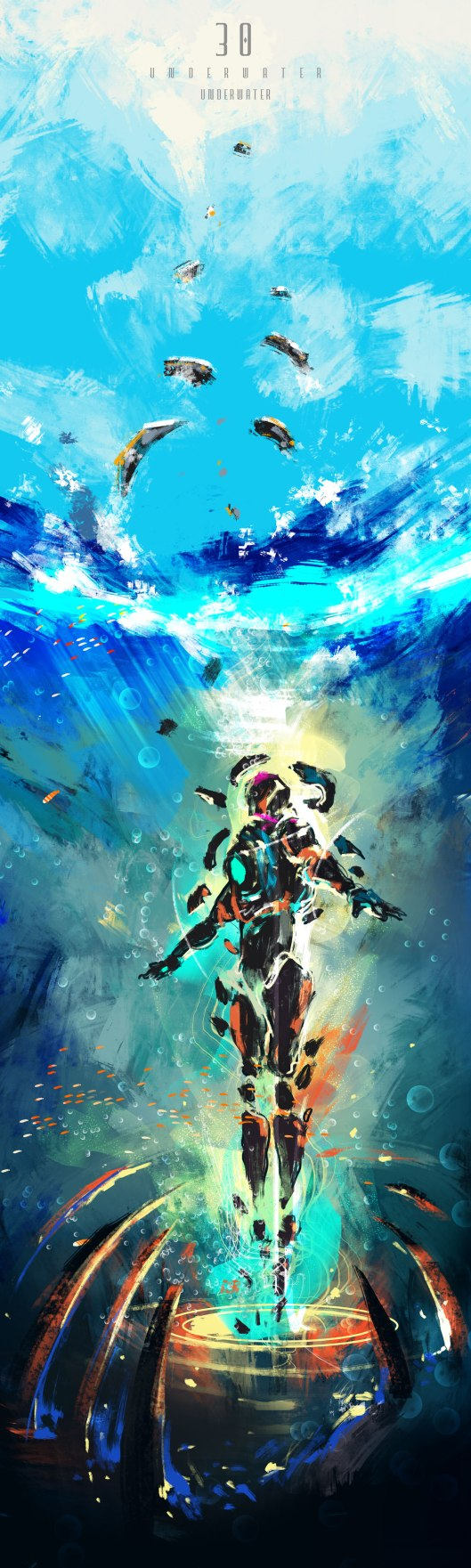 Underwater-teleportation